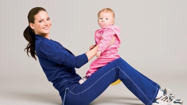 Cvičení s dítětem - obrázek