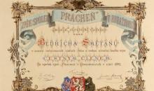 Národní muzeum - Čestné diplomy a dary Bedřichu Smetanovi - obrázek